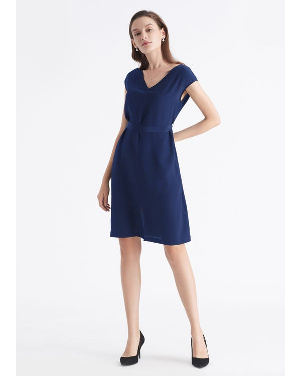 Basic Silk LBD Wearable Front and Back-hover