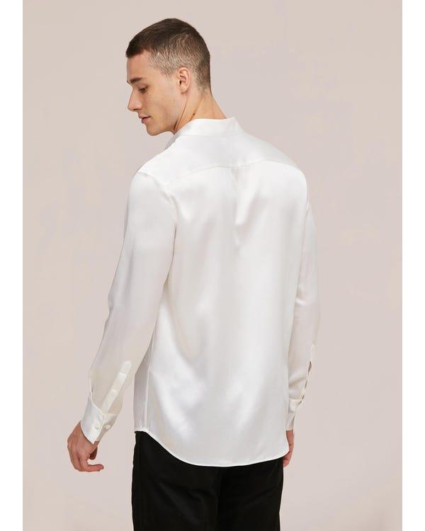 22匁 定番 シルクメンズシャツ