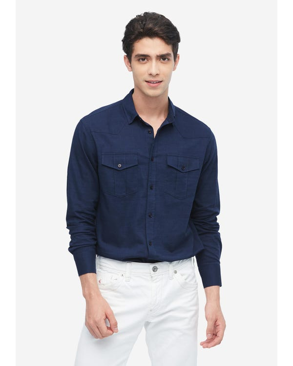 メンズ着心地良い リネン シャツ