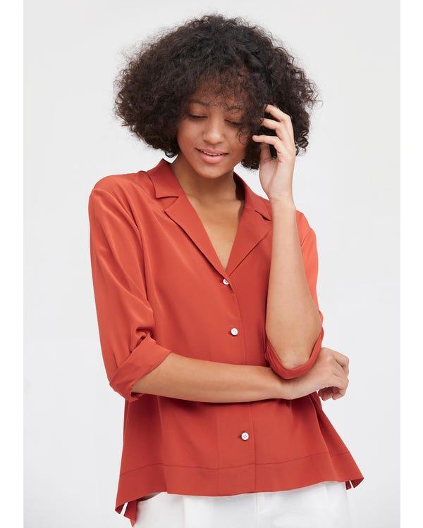 上品 春夏 長袖シルクシャツ 絹100%ブラウス 通気性抜群 夏に涼しい 肌に優しい 着痩せ UVカット