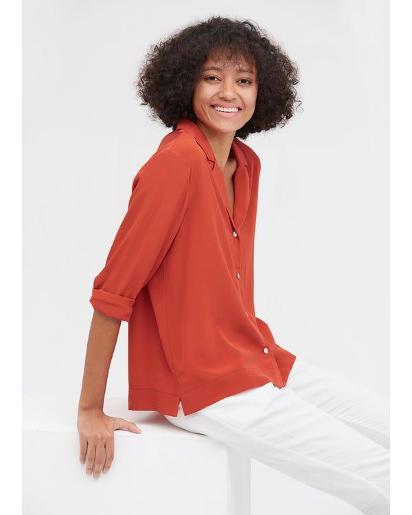 上品 春夏 長袖シルクシャツ 絹100%ブラウス 通気性抜群 夏に涼しい 肌に優しい 着痩せ UVカット-hover