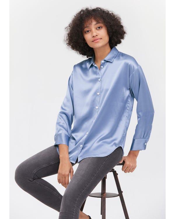 カジュアル春夏ゆったり 上品 定番 長袖シルク ブラウス シルク100% 着こなしやすい オフィスカジュアル 爽やか UVカット 肌に優しい 敏感肌も着用
