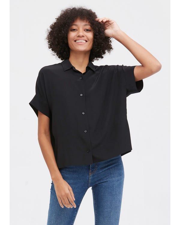 Casual Short Sleeves Loose Silk T-Shirt