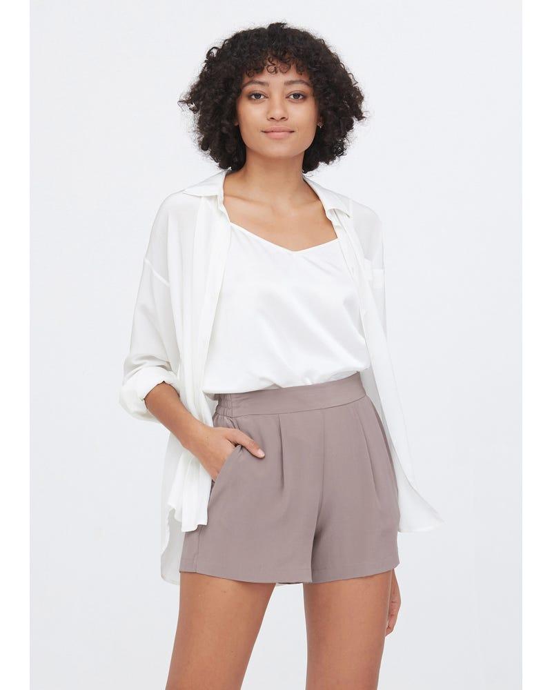 Basic And Soft Silk Shorts