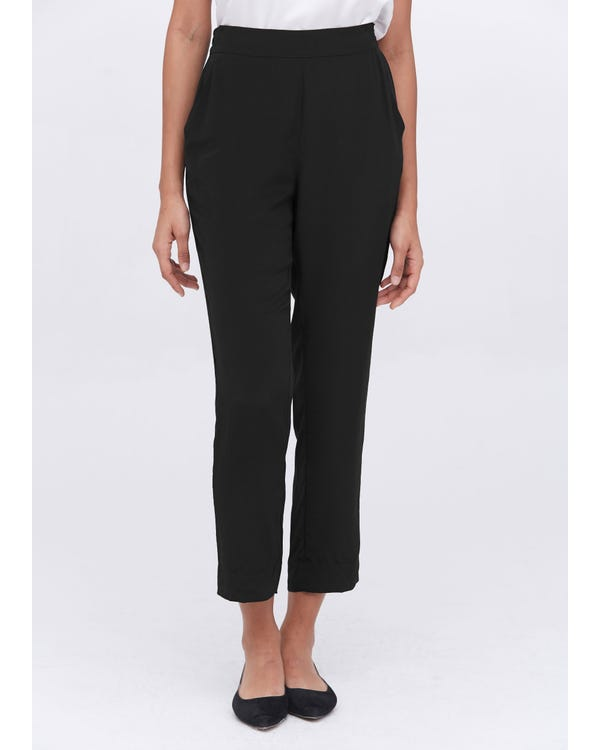 Mid-Rise Cigarette Cropped Pants