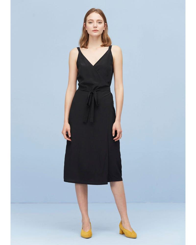 Sexy Fashion Silk Camisole Wrap Dress