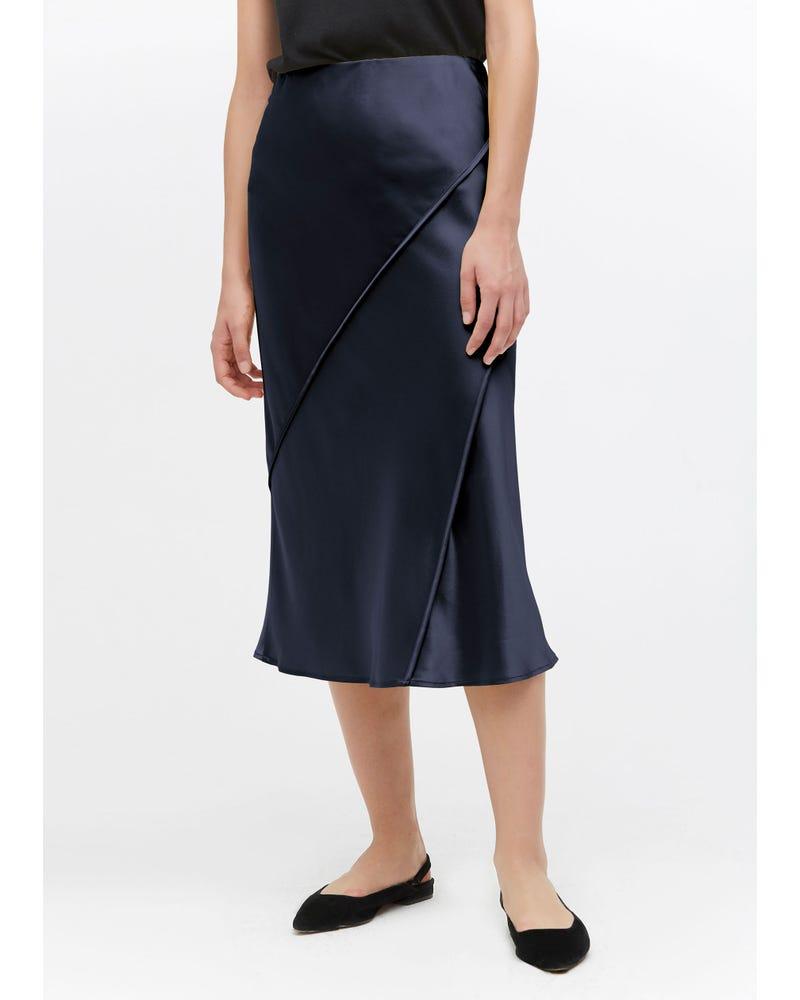 シックトリム 上品シルクミディスカート