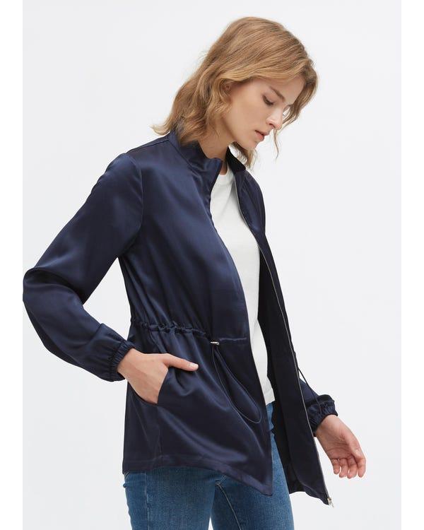 Casual Silk Drawstring Jacket-hover
