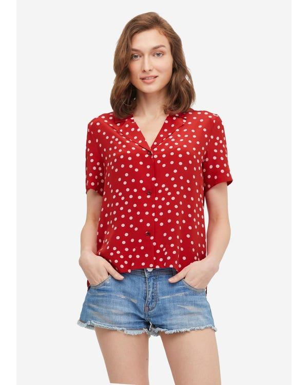 Polka Dot Button Through Shirt