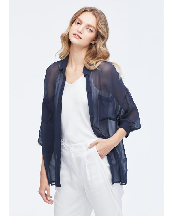 Sun Protection Performance Sheer Silk Outerwear-hover