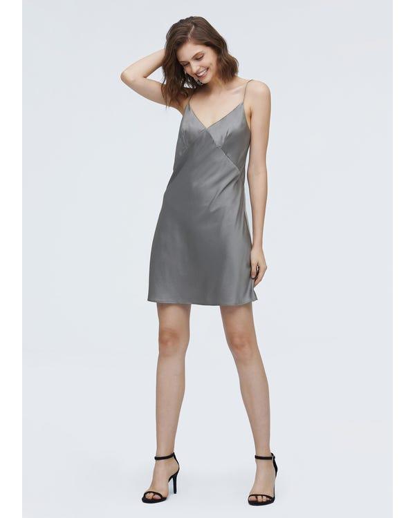 Elegant Summer Silk Slip Dress-hover