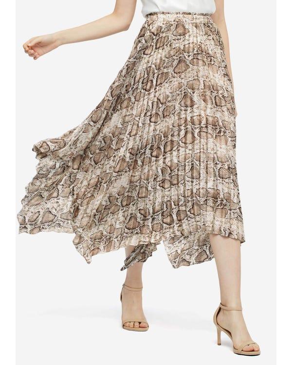 トレンド ヘビ柄 スカート