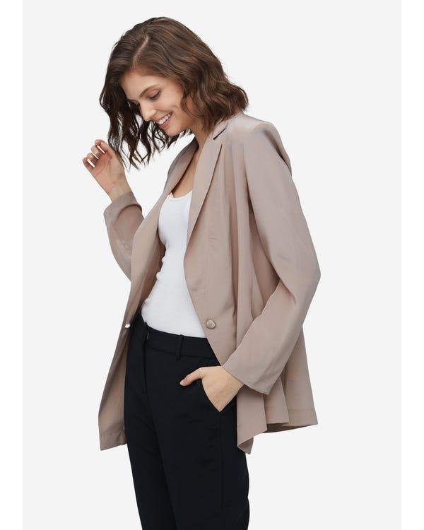 Effortless Chic Silk Blazer For Women