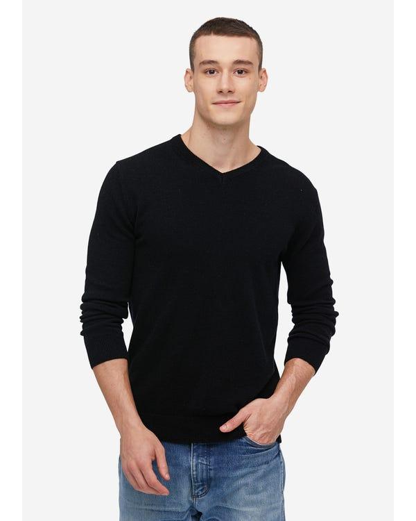 「返品交換不可」メンズ Vネック カシミア セーター S