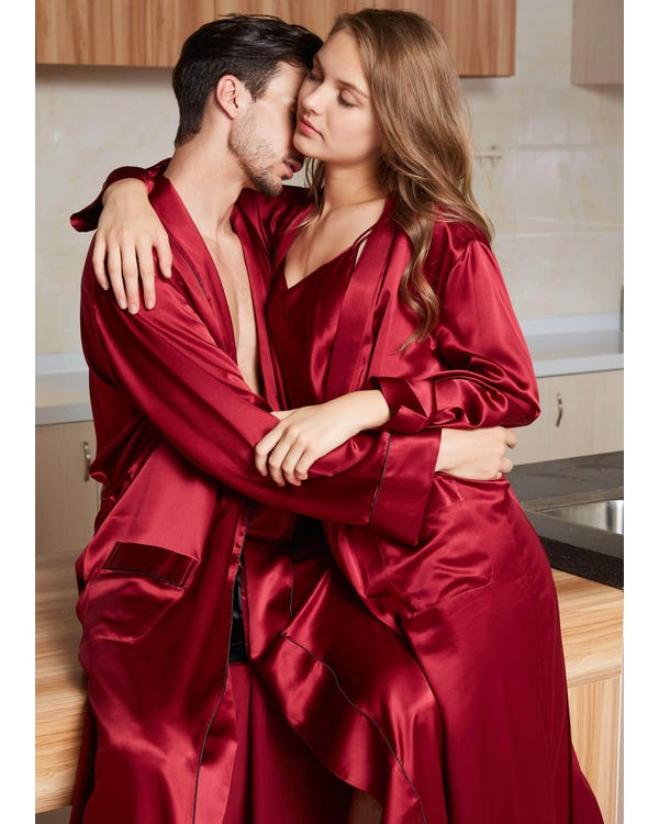 22 Momme Luxury Silk Couple Robes-hover